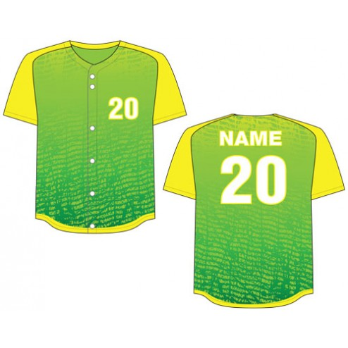 Men's Full Button Chaos Baseball Jersey