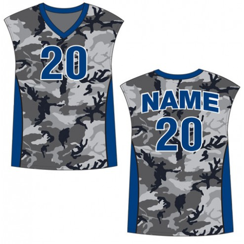 Men's Sleeveless Camo Basketball Jersey