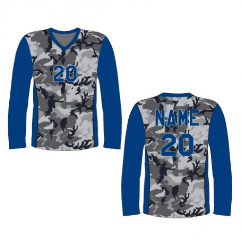 Men's Long Sleeve Camo Soccer Jersey