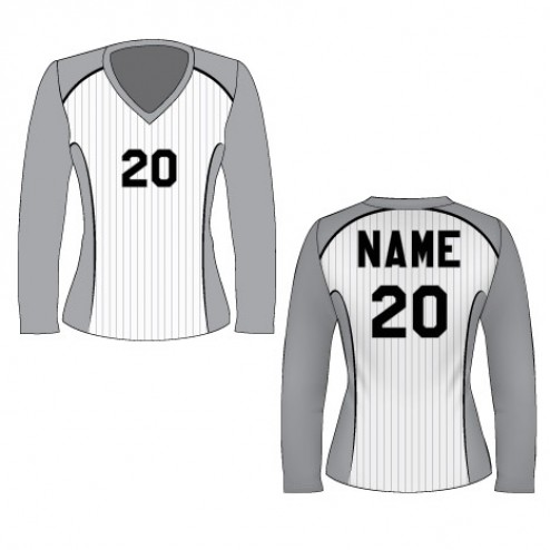 Women's Long Sleeve Pinstripe Soccer Jersey