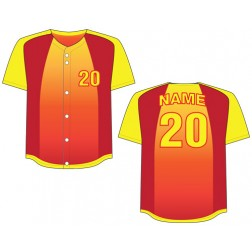 Men's Full Button Caliente Baseball Jersey