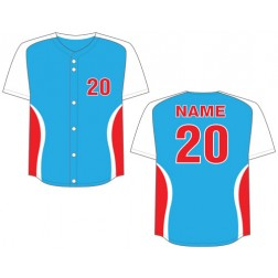 Men's Full Button Cyclone Baseball Jersey