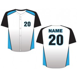 Men's Full Button Magestic Baseball Jersey