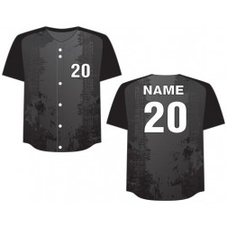 Men's Full Button Rockin Baseball Jersey