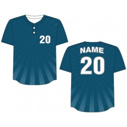 Men's Two Button Burst Baseball Jersey