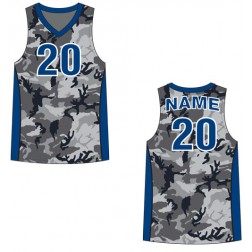 Men's Tank Top Camo Basketball Jersey