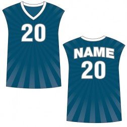 Men's Sleeveless Burst Basketball Jersey