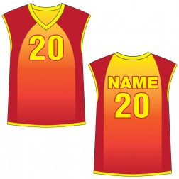 Men's Sleeveless Caliente Basketball Jersey