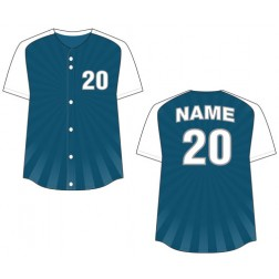 Women's Full Button Burst Fastpitch Jersey