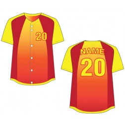 Women's Full Button Caliente Fastpitch Jersey
