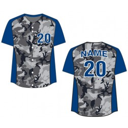 Women's Full Button Camo Fastpitch Jersey