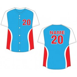 Women's Full Button Cyclone Fastpitch Jersey
