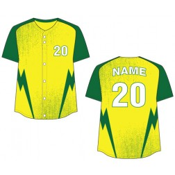 Women's Full Button Lightning Fastpitch Jersey
