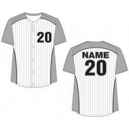 Women's Full Button Pinstripe Fastpitch Jersey