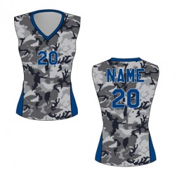 Women's Sleeveless Camo Basketball Jersey