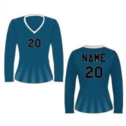 Women's Long Sleeve Burst Soccer Jersey