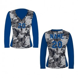 Women's Long Sleeve Camo Soccer Jersey